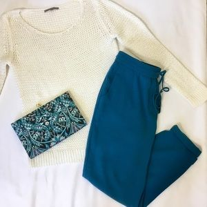 J. Crew Teal Ankle Trouser 8
